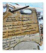 Names On B-17 Fleece Blanket