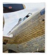 Names Pilots B-17 Fleece Blanket