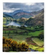 Nant Gwynant Valley Fleece Blanket