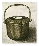 Nantucket Basket Fleece Blanket
