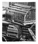 Nantucket Lobster Traps Fleece Blanket