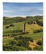 Napa Valley California Panoramic Fleece Blanket