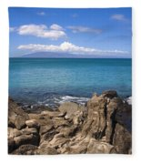 Napili Bay With Lanai Fleece Blanket
