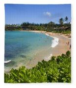 Napili Bay With Visitors Fleece Blanket