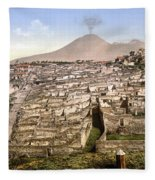 Naples: Mt. Vesuvius Fleece Blanket