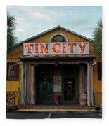 Naples Tin City - Open For Business Fleece Blanket