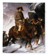 Napoleon Crossing The Alps Fleece Blanket