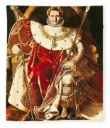 Napoleon I On The Imperial Throne Fleece Blanket
