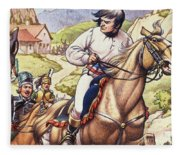 Napoleon Making A Narrow Escape With An Austrian Cavalry Patrol Close On His Heels Fleece Blanket