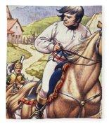Napoleon Making A Narrow Escape With An Austrian Cavalry Patrol Close On His Heels Fleece Blanket
