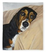 Naptime - Bassett Fleece Blanket