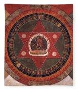 Naropa Mandala Fleece Blanket