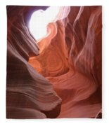 Narrow Canyon Xvii Fleece Blanket