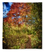Narrow Is The Path Fleece Blanket