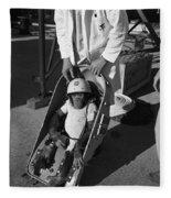 Nasa Chimp, 1961 Fleece Blanket