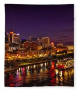 Nashville And General Jackson Fleece Blanket