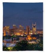 Nashville By Night 2 Fleece Blanket
