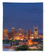 Nashville By Night Fleece Blanket