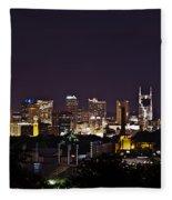 Nashville Cityscape 4 Fleece Blanket