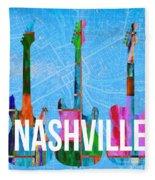 Nashville Guitars Fleece Blanket