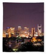 Nashville Night Scene Fleece Blanket