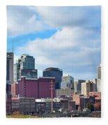 Nashville Panorama View Fleece Blanket