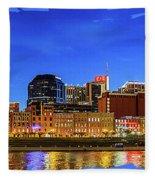 Nashville Skyline Fleece Blanket