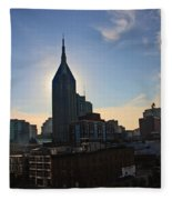 Nashville Skyline Fleece Blanket