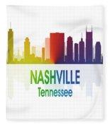 Nashville Tn 1 Vertical Fleece Blanket