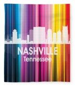 Nashville Tn 2 Squared Fleece Blanket