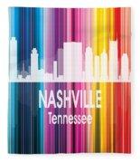 Nashville Tn 2 Vertical Fleece Blanket