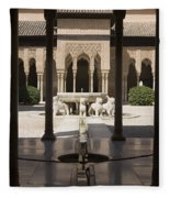 Nasrid Palaces Alhambra Granada Spain Europe Fleece Blanket