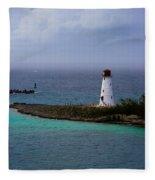 Nassau Harbor Lighthouse Fleece Blanket