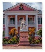 Nassau Senate Building Fleece Blanket