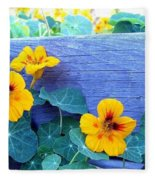 Nasturtium Box Fleece Blanket