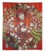 Nataraja Mural Fleece Blanket