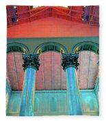 National Columns Blue Fleece Blanket
