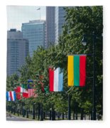 National Flags Of Various Countries Fleece Blanket