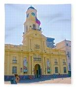 National History Museum On Plaza De Armas In Santiago-chile Fleece Blanket