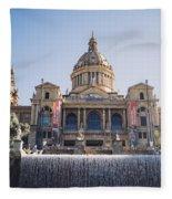 National Palace Barcelona Fleece Blanket