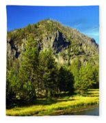 National Park Mountain Fleece Blanket
