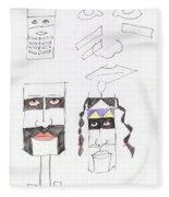 Native Ameican Hills Fleece Blanket
