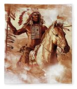 Native American 093201 Fleece Blanket