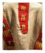 Native American Great Plains Indian Clothing Artwork 09 Fleece Blanket