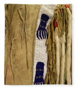 Native American Great Plains Indian Clothing Artwork Vertical 06 Fleece Blanket