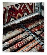 Native American Rugs Fleece Blanket
