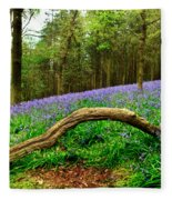 Natural Arch And Bluebells Fleece Blanket