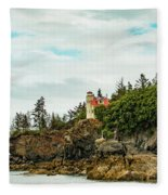 Natural Arch At Lighthouse Point Fleece Blanket