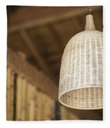Natural Bamboo Interior Design Lampshade Detail Fleece Blanket