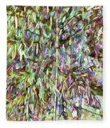Natural Bamboo Trees Fleece Blanket